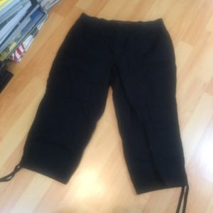 Gloria Vanderbilt Black Cargo Pants 10